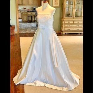 💐NWT Lamour gown sz 14 ivory bridal prom wedding